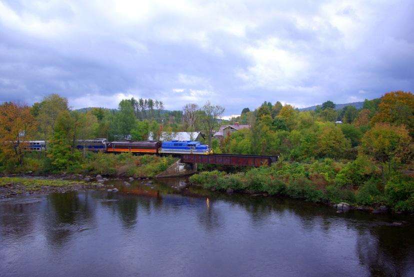 Train crossing North Creek Bridge - photo credit: Greg Klingler
