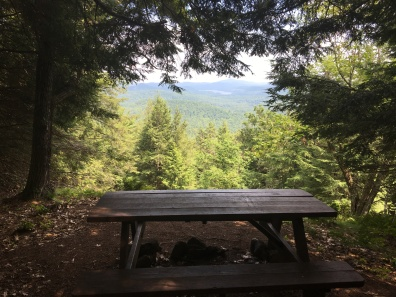 Picnic table on summit loop