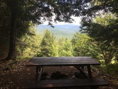 Picnic table on summit loop