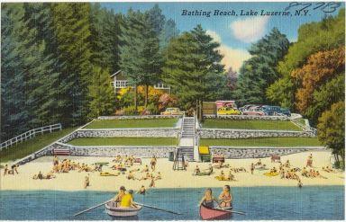 Pierpont Beach on Lake Luzerne
