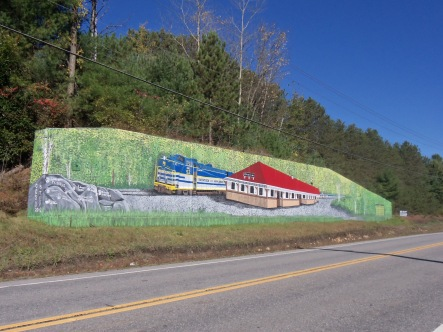 Mural of Train by Sher Millis