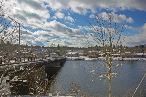 River, Bridge in Snow Photo: Greg Klingler