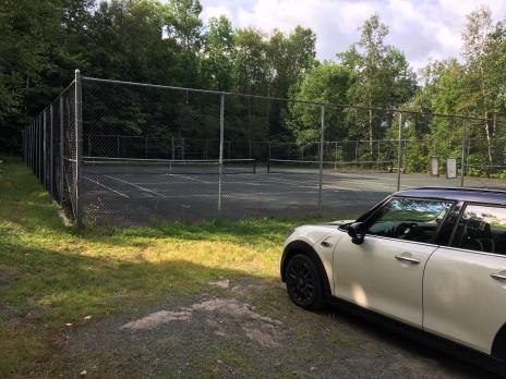 Parking lot at Garnet Hill Tennis Court