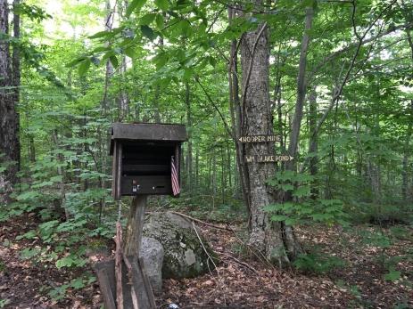 Trailhead at Garnet Hill - follow William Blake Trail